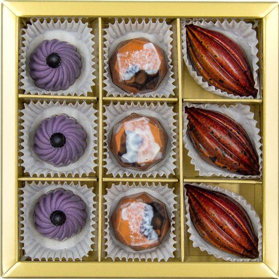 Fyldte Chokolader 9 stk - Æske 1