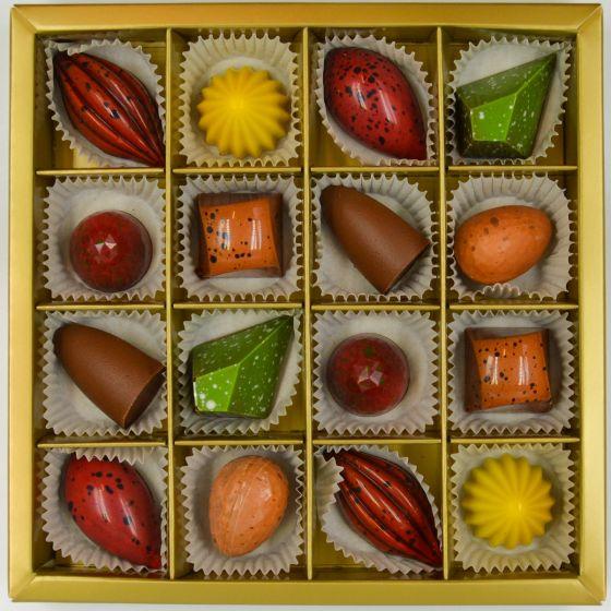 Fyldte Chokolader 16 stk - Æske 9