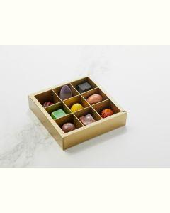 Fyldte Chokolader 9stk - Æske S4