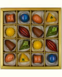 Fyldte Chokolader 16 stk - Æske 8
